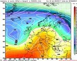 La situazione prevista da GFS06z per la giornata di Giovedi, con un vasto campo di alta pressione interessare l'Italia.