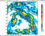 Modello GFS elaborato dal nostro Centro di Calcolo - Precipitazioni accumulate tra le 12Z e le 18Z del 03 aprile 2017