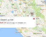 Terremoto oggi, scossa M 2.8 a Rieti, nel Lazio