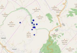 Sisma centro Italia, serie di scosse in poco tempo nel settore meridionale della sequenza: i dati Ingv