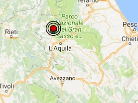 Terremoto oggi Abruzzo