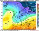 Il peggioramento atteso durante la giornata di Mercoledi per l'approssimarsi verso le regioni settentrionali di un'intensa perturbazione Atlantica.