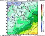 Le temperature a circa 1400metri di quota attese nella notte fra Giovedi e Venerdi, quando ormai l'aria fredda avrà interessato tutte le regioni settentrionali e centrali Italiane.