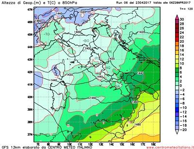 Meteo, 26-28 Aprile, temporali, nubifragi e neve sulle Alpi