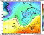 Modello GFS elaborato dal nostro centro di calcolo - Pressione al livello del mare e geopotenziale a 500hPa per le 12Z del 28 aprile 2017
