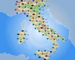 Temperature massime previste in Italia per venerdì 28 aprile 2017