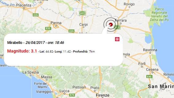 Terremoto oggi emilia romagna 26 aprile 2017 scosse m 3 for Oggi in romagna