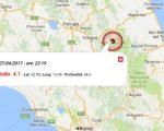 Terremoto oggi, in serata tre scosse in provincia di Macerata