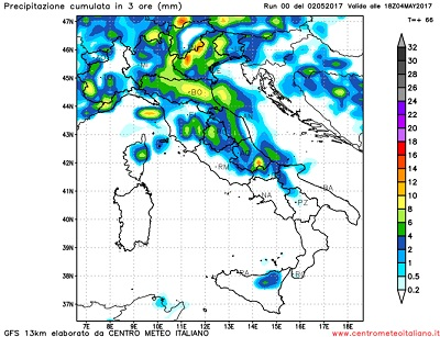 Meteo ancora piogge al Centro-Nord, più caldo al Sud
