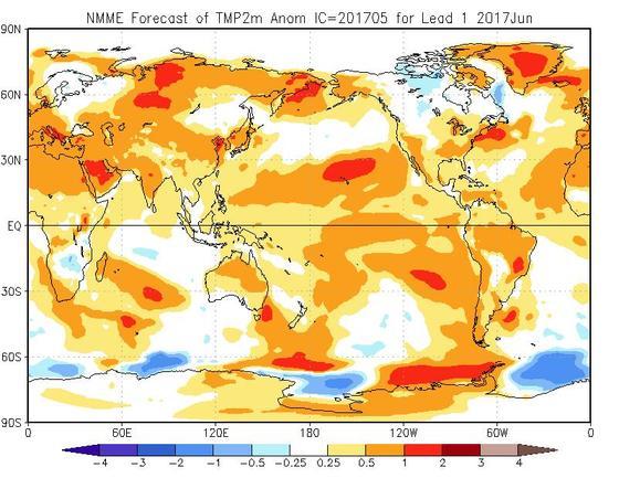 Meteo Giugno 2017, vediamo una prima tendenza sul primo mese della stagione estiva - cpc.ncep.noaa.gov