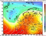 Analisi modelli GFS 00Z: ultime note d' instabilità sull' Italia nella giornata odierna, poi decisa rimonta dell' Anticiclone