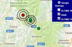 Terremoto oggi Umbria 19 maggio 2017, scossa M 3.2 provincia di Norcia - Dati Ingv