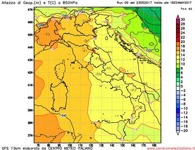 CALDO: in ITALIA condizioni meteo quasi estive con temperature sopra media