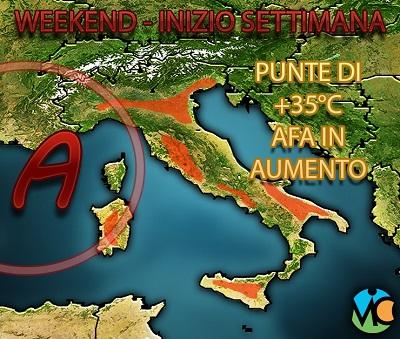 Meteo 14 Giugno: Italia nella morsa del caldo