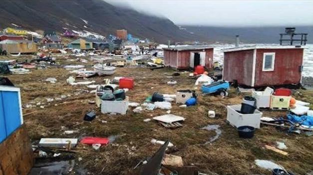 Risultati immagini per tsunami groenlandia 2017