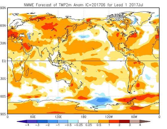 Meteo Luglio 2017, mese caldo a causa dell'anticiclone africano spesso dominante in Italia - cpc.ncep.noaa.gov