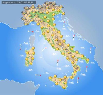 Previsioni meteo fine settimana 21-23 luglio: a Napoli temperature tropicali