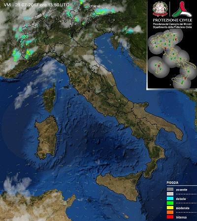 Allerta meteo: violenti temporali e grandinate in arrivo