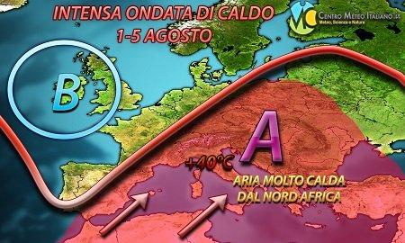 Previsioni Meteo per il 4 agosto 2017
