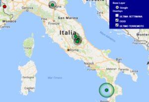 Terremoto oggi Lazio 12 agosto 2017, scossa M 2.5 provincia di Rieti - Dati Ingv