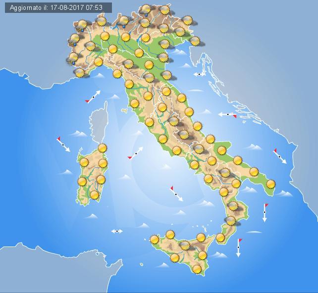 Meteo Italia- In arrivo rovesci e temporali nonché un calo delle temperature