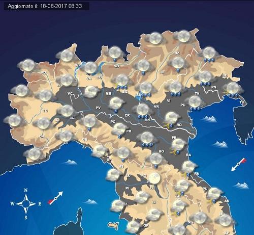 MALTEMPO: rovesci e temporali anche di forte intensità attesi al Nord e sull'Adriatico