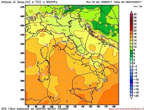 METEO / crollo delle temperature in Italia con valori anche sotto media grazie all'aria fresca