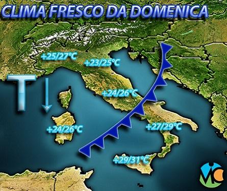 Campania, allerta meteo per l'arrivo delle piogge