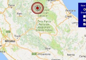 Terremoto oggi Abruzzo 5 settembre 2017, scossa M 3.9 provincia dell'Aquila - Dati Ingv