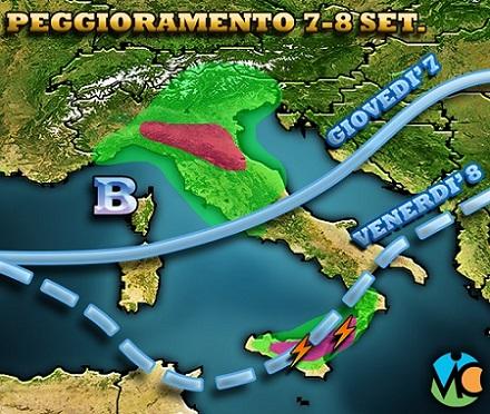 Allerta meteo in Campania, da giovedì 7 settembre possibili temporali