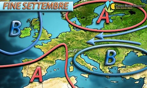 Altre piogge in arrivo sull' Italia e clima autunnale durante la prossima settimana.