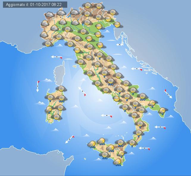 Meteo, deboli piogge e clima fresco a Nord e in Toscana
