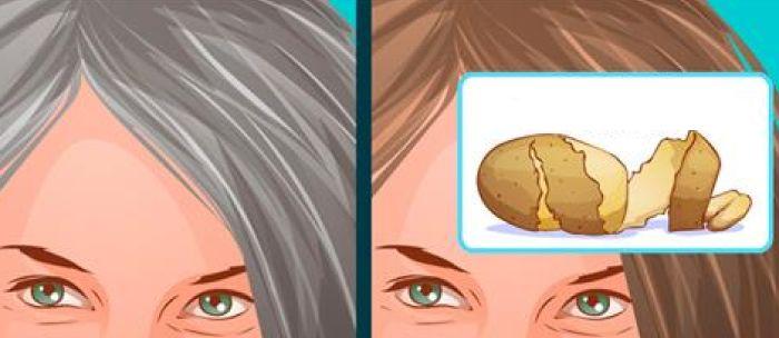 Con il metodo della buccia di patata si eliminano per sempre i capelli  grigi  efficace dopo pochi minuti - Centro Meteo Italiano e5d19febe457