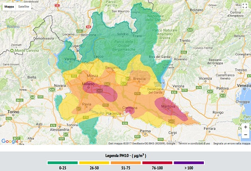 Polveri sottili, a Verona raggiunto il limite massimo di sforamenti annuali