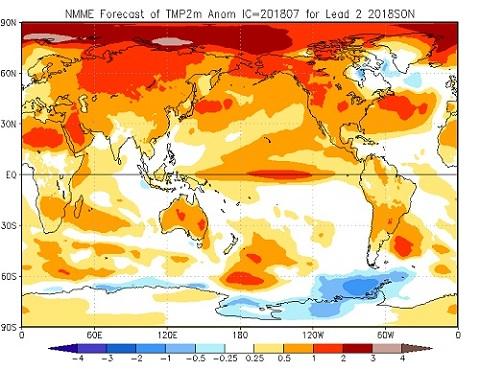 Tendenza meteo autunno 2018 - cpc.ncep.noaa.gov