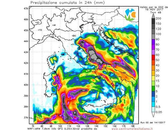 Allerta meteo Marche e Abruzzo, fenomeni intensi e persistenti