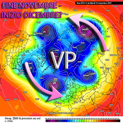 Tendenza meteo: entro dicembre verso un ricompattamento del vortice polare - meteociel.fr