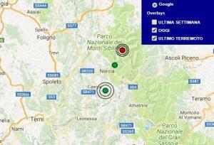 Terremoto oggi Umbria 14 novembre 2017, scossa M 2.7 provincia di Perugia - Dati Ingv