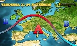 METEO prossima settimana: anticiclone sull' Europa meridionale e tempo stabile sull' Italia
