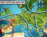 Ipotesi meteo per Natale 2017 in Italia