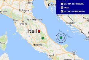 Terremoto oggi Marche 12 dicembre 2017, scossa M 2.2 provincia di Macerata - Dati Ingv