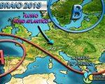 METEO Febbraio 2018: anticiclone dominante sull'Europa occidentale?