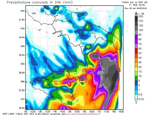 Meteo, prosegue l'ondata di maltempo su Calabria e Sicilia