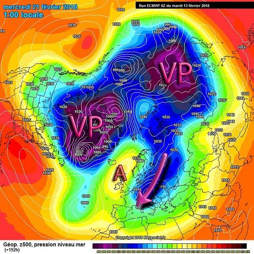 Terza decade di febbraio secondo il modello ECMWF - meteociel.fr