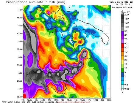 Allerta meteo sulla Sicilia fino alle 24 di oggi. Domani poco nuvoloso