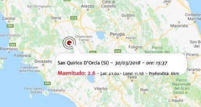Terremoto oggi, scossa in provincia di Siena