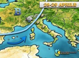 METEO – tempo in peggioramento, tornano rovesci e temporali in Italia