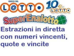 Lotto and Superenalotto, draw today April 28, 2018: € 2,570,400 with