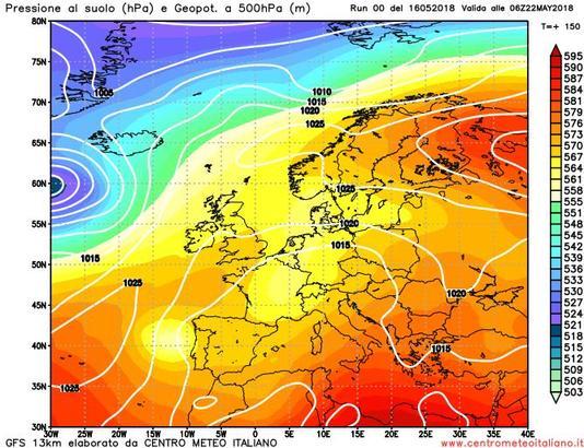 Tempo instabile anche nell'ultima decade di maggio?