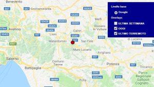 Terremoto oggi Basilicata 16 maggio 2018, scossa M 2.2 provincia di Potenza - Dati Ingv